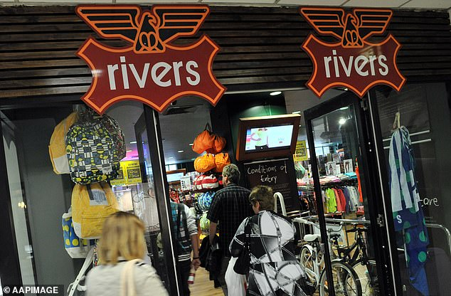 Australian brands like Rivers (pictured) and Millers have also announced store closures