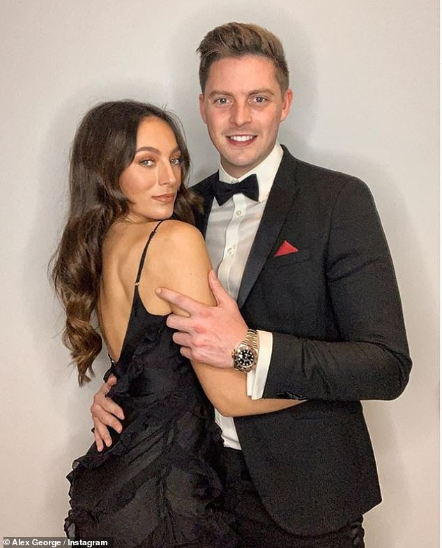 'Proud':Dr Alex George's girlfriend has said she is 'so proud' of her boyfriend as he works on the frontline amid the coronavirus crisis