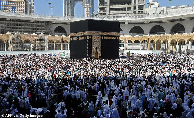 Sixty-four percent of ill travellers who had recently attended Umrah or Hajj were hospitalised because of their illness and one person died. Saudi Arabia suspended the year-round umrah pilgrimage earlier this month over fears that coronavirus could spread to Islam's holiest cities (file photo)