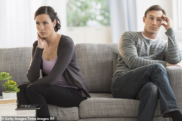 Divorce lawyers have seen a huge surge in enquiries since the UK was put on lockdown to tackle the coronavirus, with anxious couples struggling in quarantine. Pictured: stock image