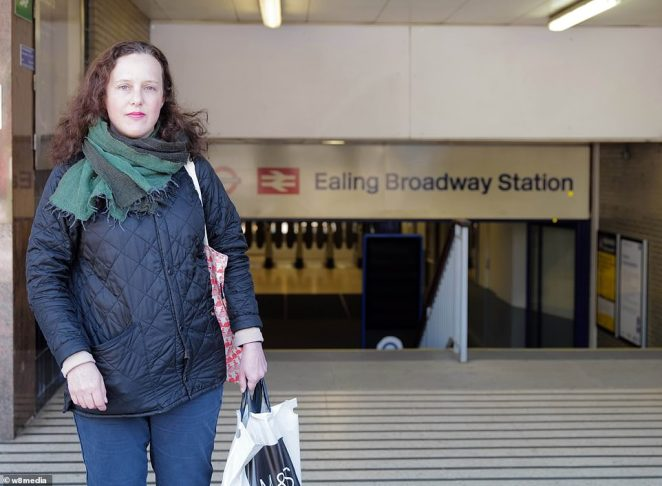 Kim Black, 48, a child protection social worker from Oxford, is taking the underground to Paddington to catch a train to her home