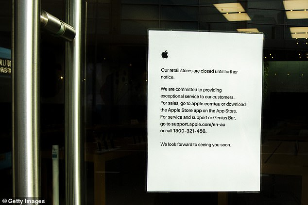 Apple first announced the closure of its international stores on March 14, with the hopes they would reopen in two weeks. However, its US locations were closed 'until further notice'