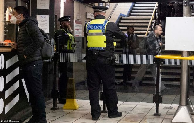 Today 500 police officers were deployed at major stations to remind passengers that only those making essential journeys for work should be using the Tube and trains