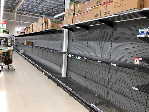 Leading supermarket chains have imposed strict rationing measures to curb 'panic-buying' as they struggle to keep up with the soaring demands in recent weeks