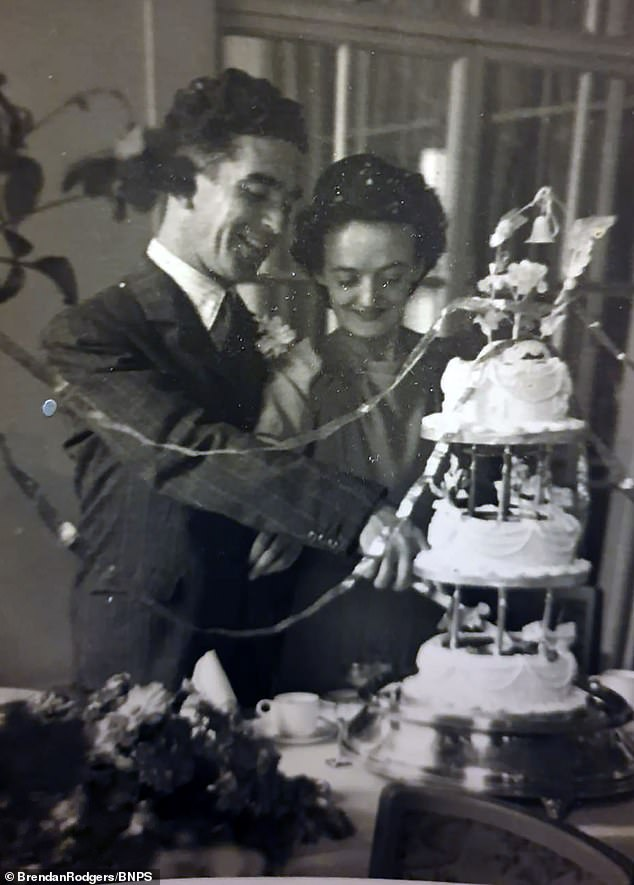 Sgt Rodgers pictured at his wedding day with his wife Mary in July, 1945, shortly after his release from custody
