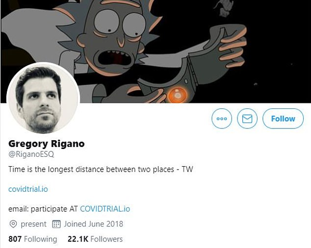 Profile: Gregory Rigano used his Twitter account to promote his claims about chloroquine