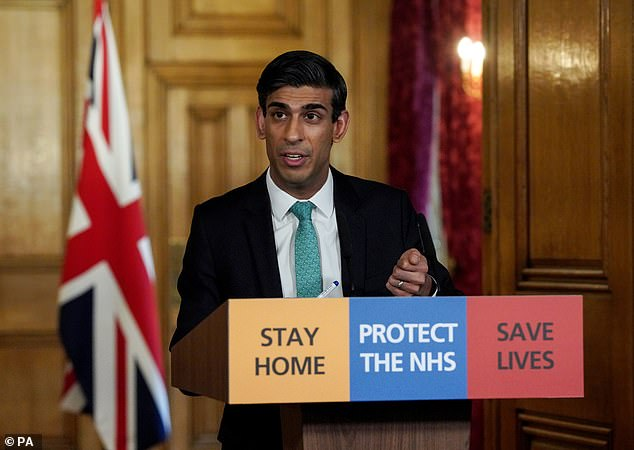 Chancellor Rishi Sunak (pictured at Downing Street yesterday) has launched measures to protect the self-employed during the coronavirus outbreak