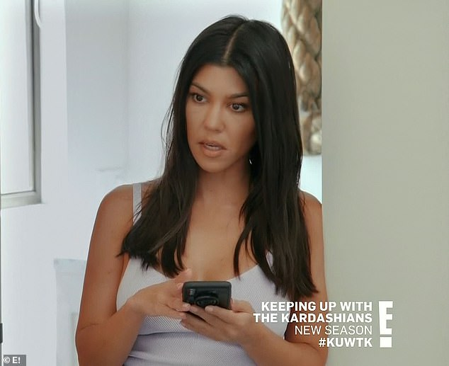 Shock: On her struggle with the show, Kourtney went on: 'We always said we would do it together as long as we all wanted to do it and felt happy and that it made sense..