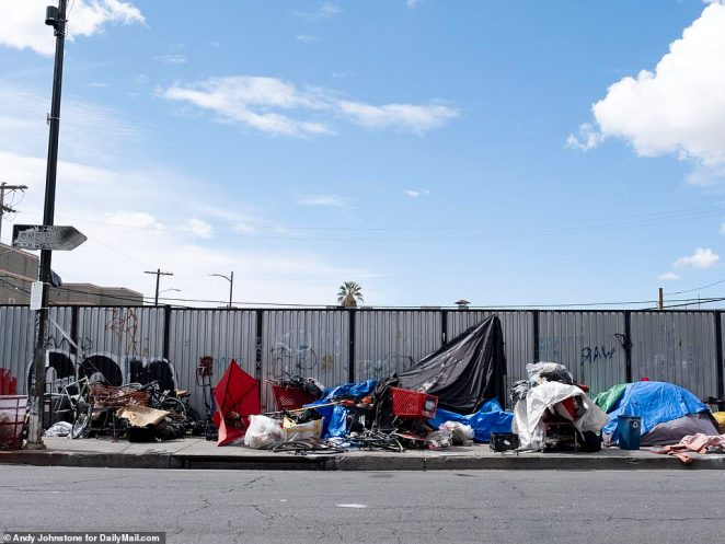 But photos taken exclusively by DailyMail.com reveal there has been no decline in the number of rough sleepers in the area, while local charities say they are being overwhelmed by the extra demand ¿ which comes as donations decline