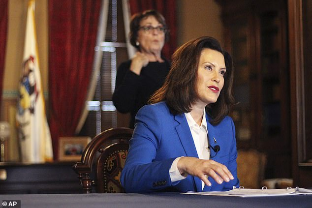 Michigan Governor Gretchen Whitmer complained of supply orders to her state being canceled