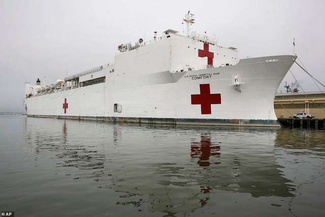 The U.S. Navy hospital ship USNS Comfort is headed for New York to be used as a makeshift hospital amid the pandemic
