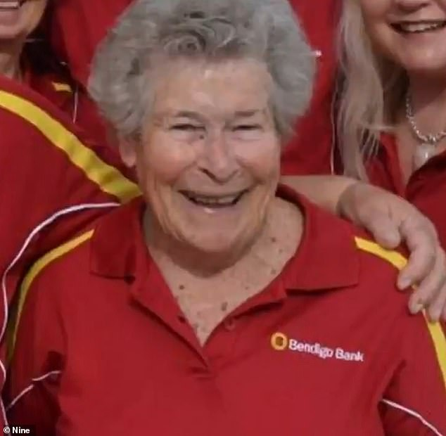 Sally Holland (pictured) was set upon by dogs at a Jervis Bay beach while going for a swim. The 91-year-old died at the scene