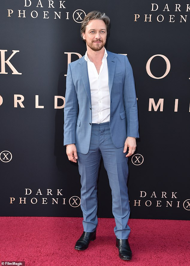 Generous: Actor James McAvoy has donated £275,000 to a crowdfunding campaign set up to buy vital protective equipment for NHS staff treating coronavirus