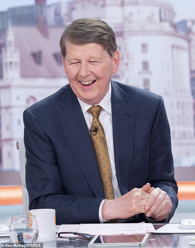 New life: Bill Turnbull has revealed a plant-based diet and yoga have helped him tackle mood swings brought on by hormone therapy as he tackles prostate cancer