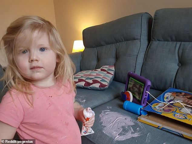 This parent, thought to be from the US, described their adorable daughter as a 'terror'