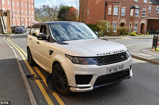 Police are investigating the crash involving the white Range Rover on Sunday morning