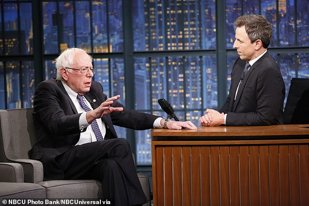 Repeat guest: Bernie has already been a guest on Seth's late night talk show, appearing in an episode a little over a year ago