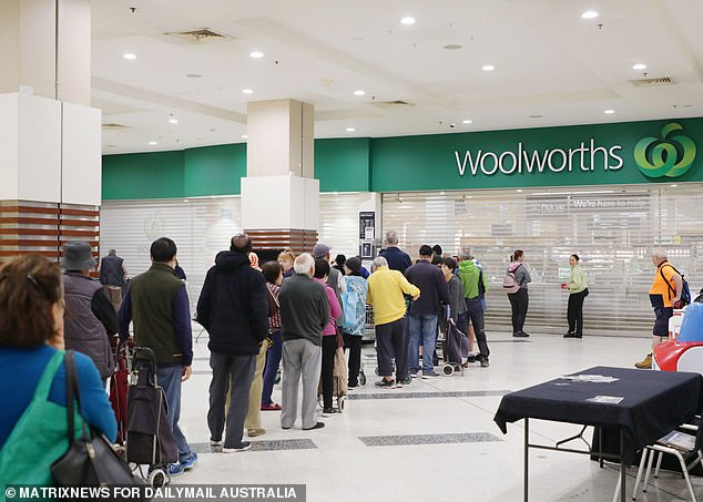 Woolworths have been forced to introduce an elderly hour for shoppers to combat the crowds