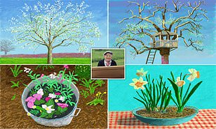 David Hockney Shares Exclusive Artwork Depicting Awakening Of Spring Drawn From Lockdown In Normandy Daily Mail Online