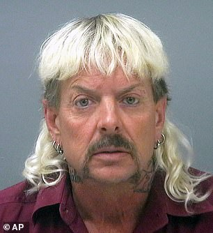 Joe Exotic, real name Joseph Maldonado-Passage, is serving 22 years for 17 counts of animal cruelty and conspiracy to assassinate his arch-enemy Carole Baskin