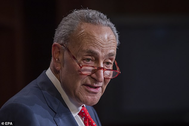 Schumer has been doing the media rounds arguing that Trump needs to put a military commander in charge of manufacturing and distributing much needed medical supplies under the Defense Production Act