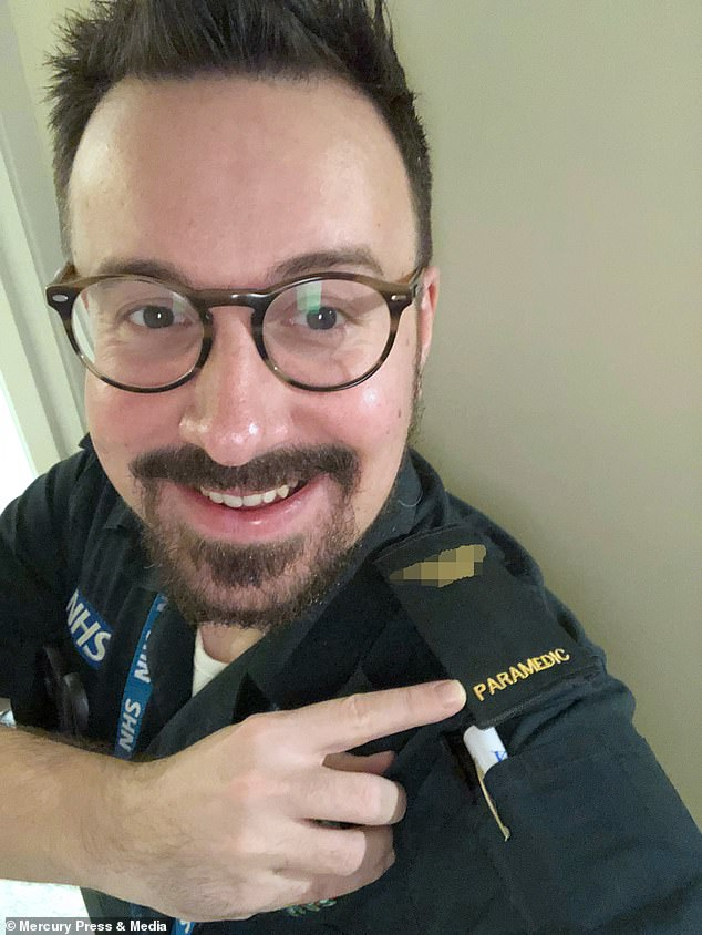 Paramedic David Tillyer, 35, received a standing ovation after completing his 12-hour shift and went to his local Lidl store to purchase basic supplies