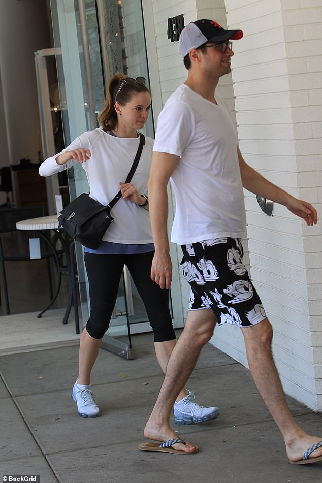 Her love: The star, who plays Caitlin Snow/Killer Frost on The Flash, and Robbins initially crossed paths through friends and confirmed their engagement amid a July 2016 Greek getaway. Seen in Beverly Hills last year