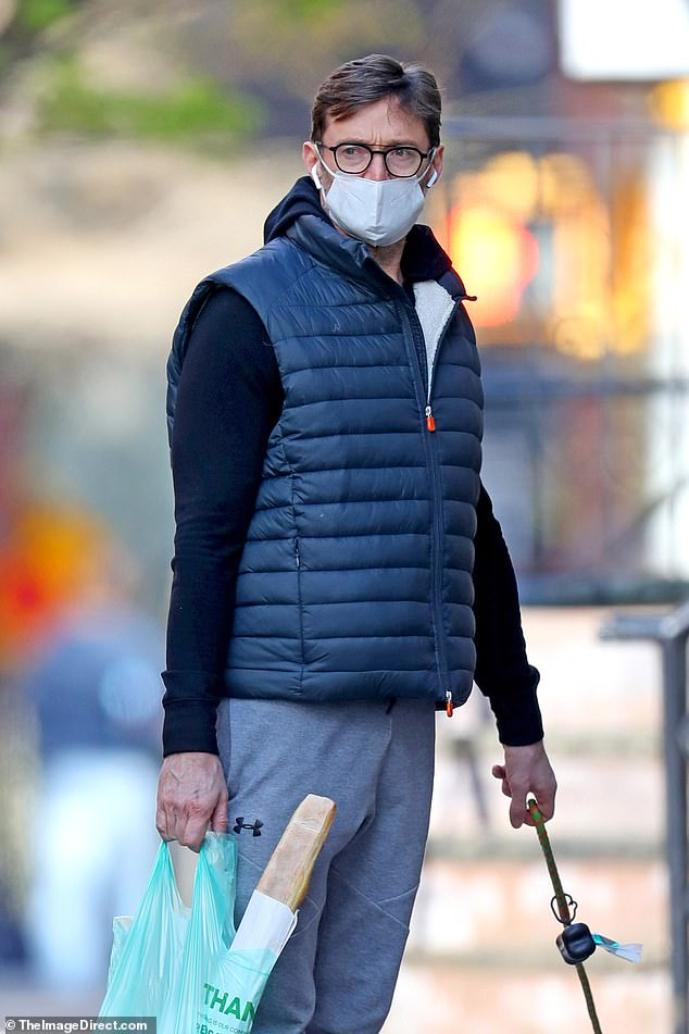 Taking no chances! It was safety first for Hugh Jackman and his wife Deborra-Lee Furness on Wednesday, with the couple donning face masks while out shopping for groceries in the Big Apple amid the coronavirus pandemic