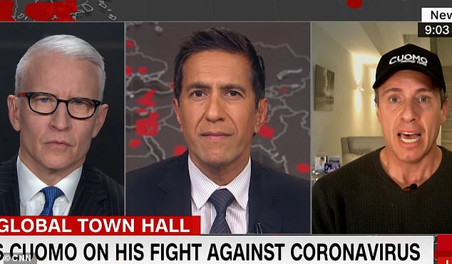 Scary: Cuomo revealed to host Anderson Cooper and Dr. Sanjay Gupta that he had lost 13 pounds in the past three days due to intense coronavirus fever
