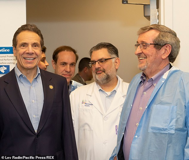 Governor Cuomo updates the press on COVID-19 and visits Northwell Hospital test laboratories with Howard Zucker, Michael Dowling and Dr. Dwayne Breining at Northwell Health