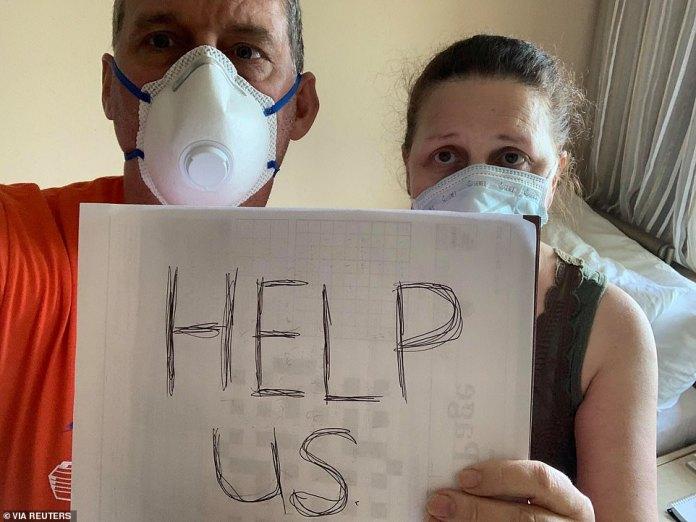 Canadian passengers Chris and Anna Joiner seek help aboard Zaandam March 27