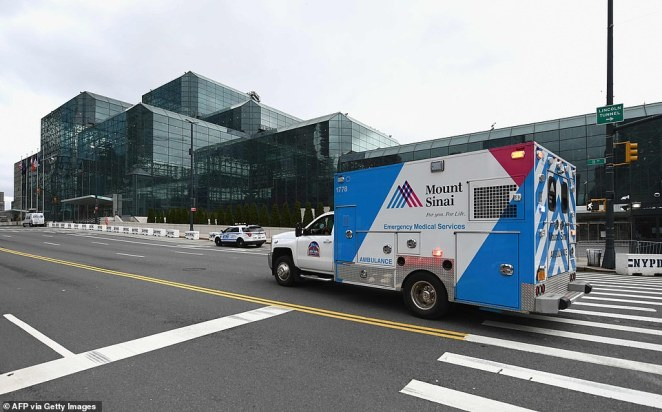 Patients are also now being treated for coronavirus inside the Javits Center on Manhattan's west side
