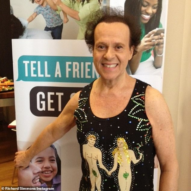 He's back (sort of)! For the first time in six years, reclusive aerobics guru Richard Simmons has made a virtual return for his 355,000 multigenerational followers / subscribers in the era of the global coronavirus pandemic (photo from 2014)