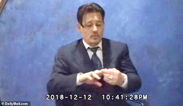 The clip was part of a videotaped statement for a completely separate legal matter settled last year in which Depp accused a former lawyer of having wrongly collected millions of dollars in fees.