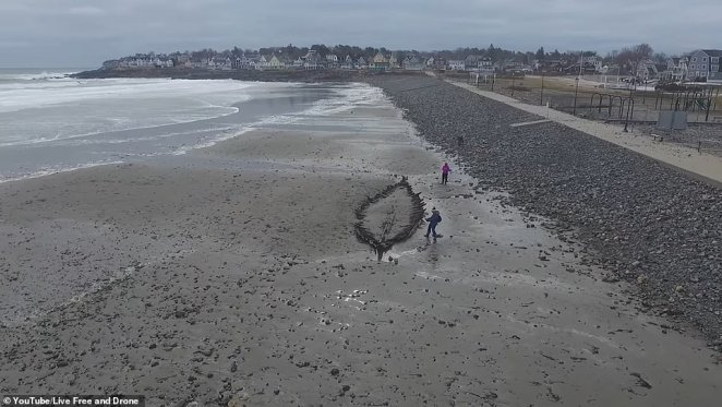 Using drones equip with geographical dating technology to determine it was built in 1754 and laid to rest in a sandy grave sometime during 1769
