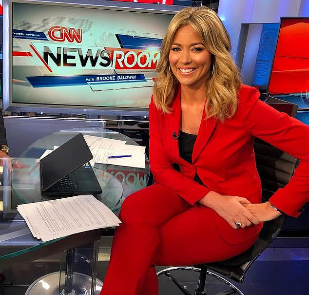 Diagnosis: the CNN anchor Brooke Baldwin, 40, revealed that she had tested positive for the coronavirus