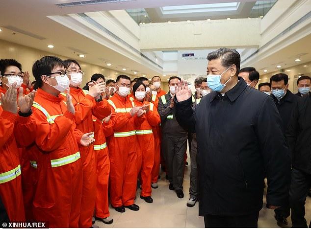 Chinese President Xi Jinping visits Chuanshan port area of the Ningbo-Zhoushan Port, Zhejiang Province