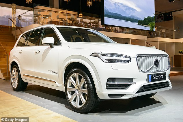 The Volvo XC60, pictured, faces a tax rise of up to £750