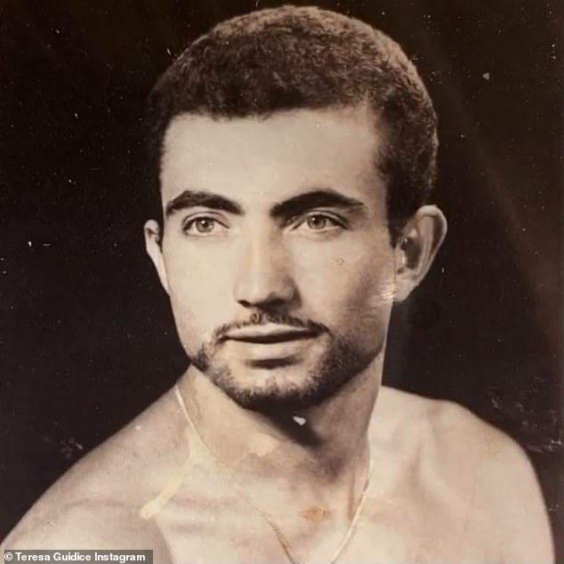 A resemblance: And the star shared this very old photo of her father; it is easy to see where she got her facial features