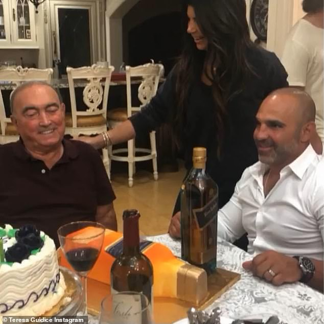 A big loss:Teresa's brother Joe also had a sweet tribute for his dad. 'I can¿t believe he is gone,' he began. 'The world lost an amazing man human being today. He was exactly what a true father and husband should be'