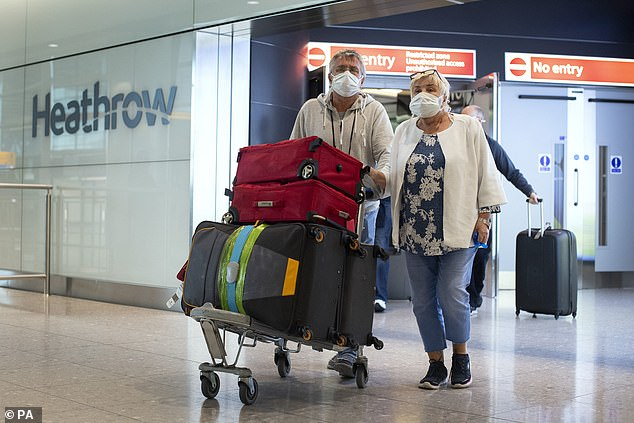 British nationals trapped on two cruise ships involved in a bitter coronavirus conflict returned to Heathrow earlier today.