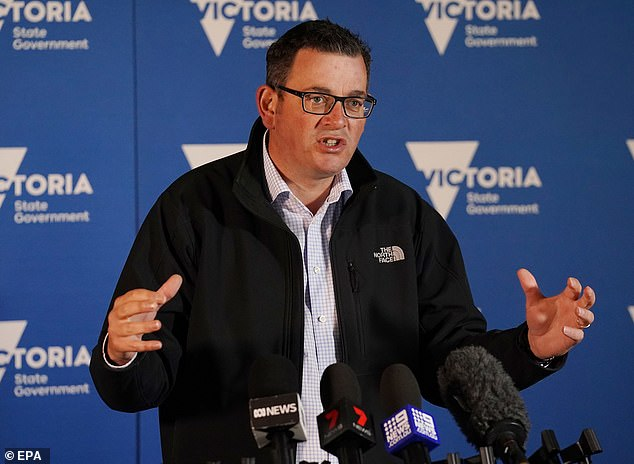 Victorian Premier Daniel Andrews said the state was 'not mucking around' when it came to the strict coronavirus measures. Victoria has experienced a drop in coronavirus cases in past days