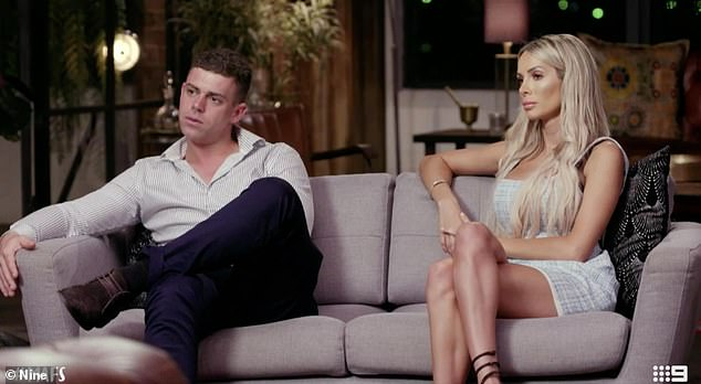 Over:Married At First Sight's Stacey Hampton (right) and Michael Goonan (left) finally split up during Sunday's season finale, after both being accused of cheating on each other