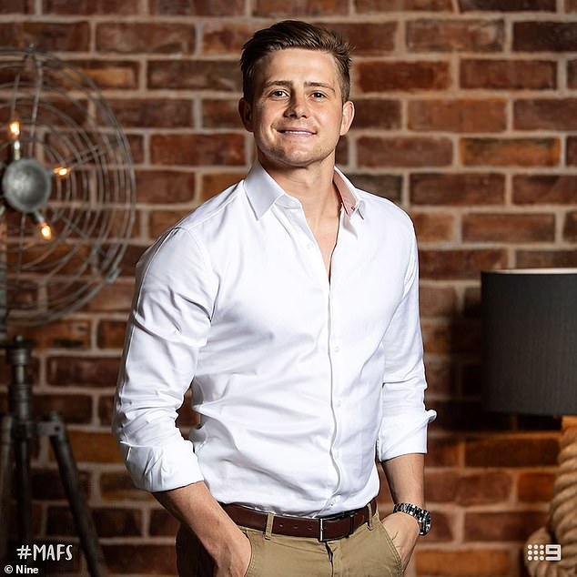 Scandal: Footage has leaked of MAFS' Mikey Pembroke (pictured) rehearsing his scripted lines for the reunion during a night out on December 13, a month before filming the final episode