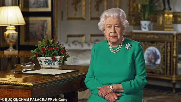 Sunday evening, the queen, 93, urged the British public to come together in the fight against the coronavirus epidemic in a moving television speech