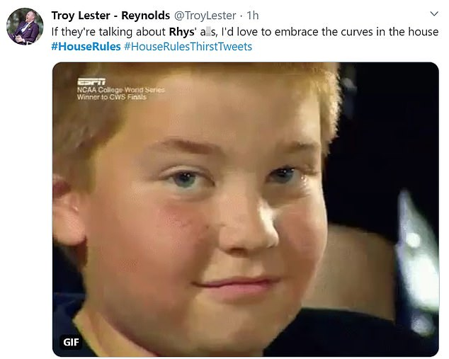 One person Tweeted: 'I hope Rhys' shorts get shorter as the season goes on...and if his shirts comes off too, I won't be mad'