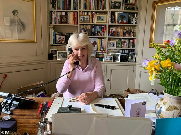 Meanwhile, the Duchess of Cornwall's office in her Aberdeenshire home offered a glimpse of an
