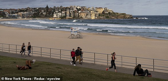 World-renowned Bondi Beach is closed due to coronavirus restrictions on March 21
