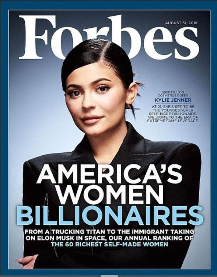 Impresionante: en 2019, Kylie fue aclamada como la multimillonaria 'más joven' hecha a sí misma 'por segundo año consecutivo (en la portada de 2018)