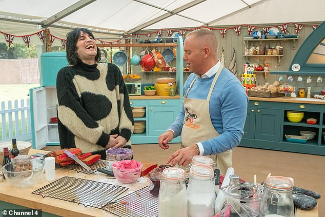 Crush: Before Tuesday's episode, Rinder revealed that he had developed a crush on Noel Fielding when filming The Great Celebrity Bake Off